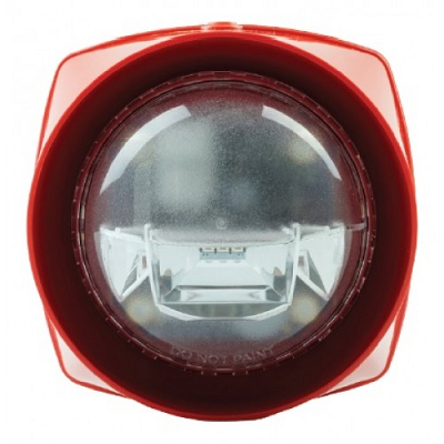 S3 Red Body Sounder Standard Power with Red VAD Gent - S3-S-VAD-LPR-R